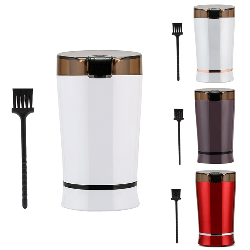 Moedor de Café Semente de Porca de Sal Moedor de Feijão de Café com Lâmina de Aço Máquina de Café Elétrico Inoxidável Plug Eua