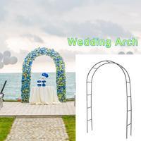 Iron Wedding Arch Decorative Flower Stand Plant Climbing Frame Garden Backdrop Arch For Marriage Birthday Wedding Party Decor