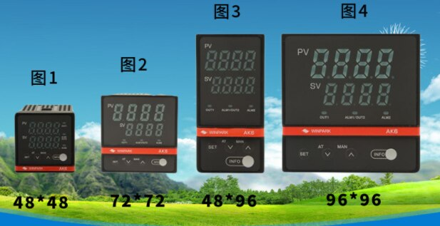 WINPARK متحكم في درجة الحرارة AK6 سلسلة متحكم في درجة الحرارة AK6-D AK6-E AK6-A AK6-B K 0-400 درجة