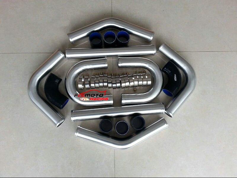 """2.5"""" 64mm Alu Intercooler Turbo Piping Pipe Kit +  Hose"""