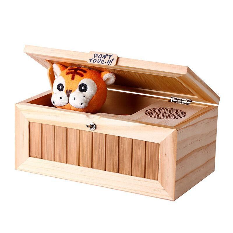 Nueva caja electrónica inservible para niños con sonido lindo Tigre juguete regalo Escritorio de reducción de estrés