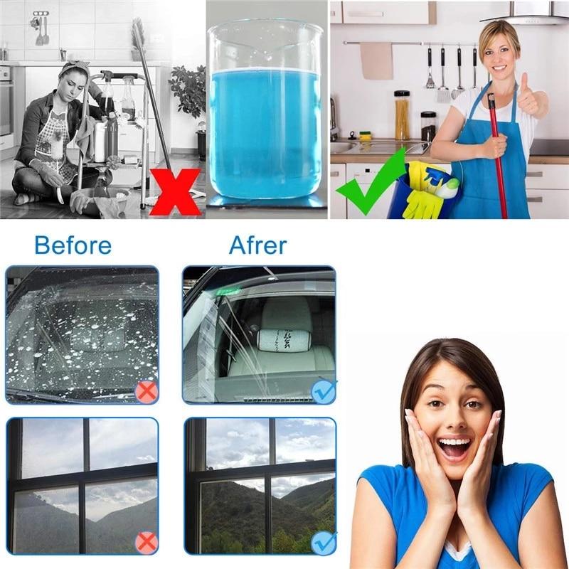 Limpiaparabrisas fino para coche, limpiador de vidrios del parabrisas, accesorios de limpieza de ventanas, 10/20/50 Uds. (1 Uds. = 4L de agua)