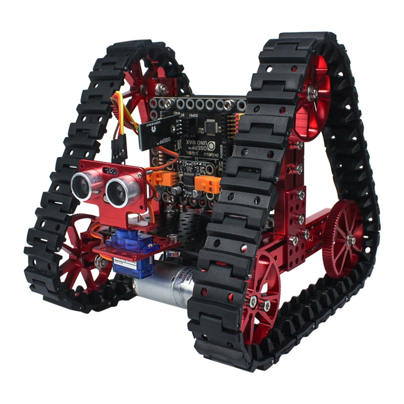 High quality aluminum Triangular tank robot kit Learn DIY mechanical kit RC remote control for Arduino programming