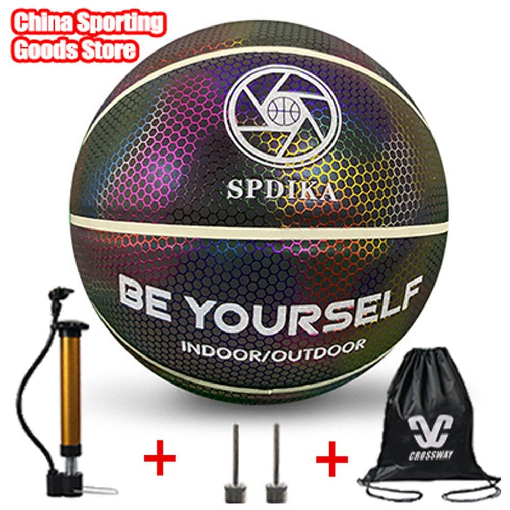 Оригинальный бренд светоотражающий Баскетбол светильник баскетбол, № 7 лазер, уличный баскетбол, Бесплатный воздушный насос + Воздушная иг...