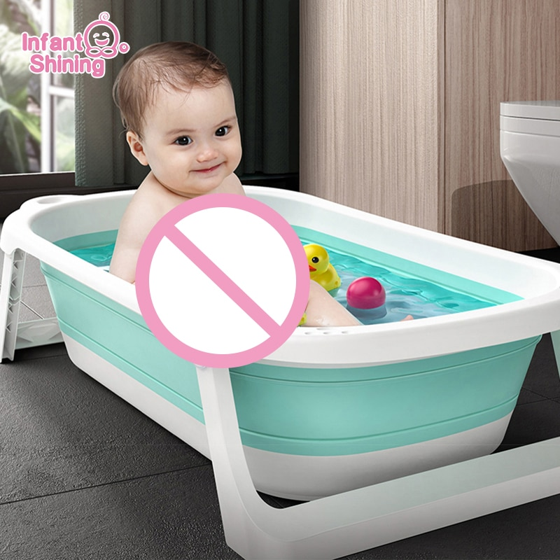 Infant Shining Folding Bath Tub Large Size Infants Bathtub 0-6 Years Newborn Baby Products Bath Seat Bathtub for Kids