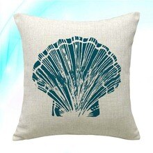 Pillowcase Coastal Shell Pattern Throw Pillow Cover Ocean Park Decorative Cushion Case Outdoor Home Couch Decor