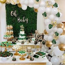 PATIMATE-Kit arc guirlande de ballons   Ballon en Latex Macaron, Ballon blanc pour anniversaire premier anniversaire, décor réception-cadeau pour bébé