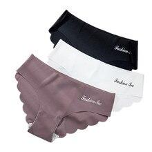 תחתונים לנשים חלקה תחתונים סט מוצק Invisible תחתונים סקסי נמוך מותן תחתוני נשים של תחתוני הלבשה תחתונה Dropship 3 Pcs