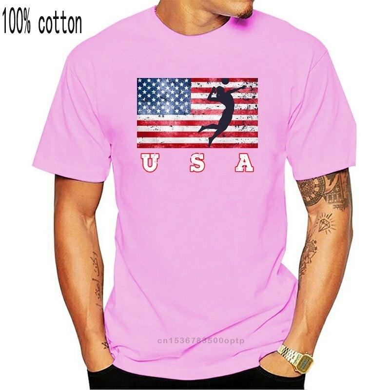 Chemises été manches courtes nouveauté Usa drapeau plage Volleyballer équipe chemise amérique joueur nous