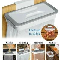 Support de sac poubelle en plastique avec couvercle  1 piece  organisateur suspendu de placard  porte-sac poubelle  accessoires de cuisine et de salle de bain