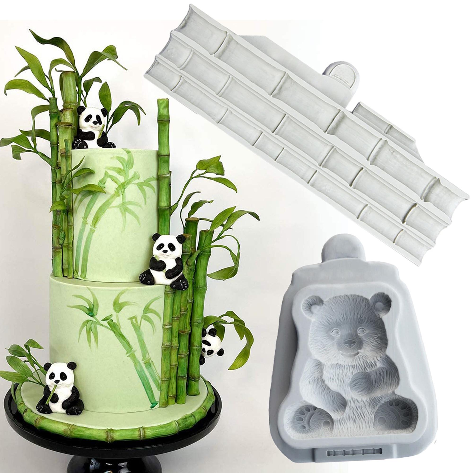 Luyou симпатичная Панда силиконовая форма для помадки инструменты для украшения торта бамбуковая Смола форма для выпечки, кондитерские издел...