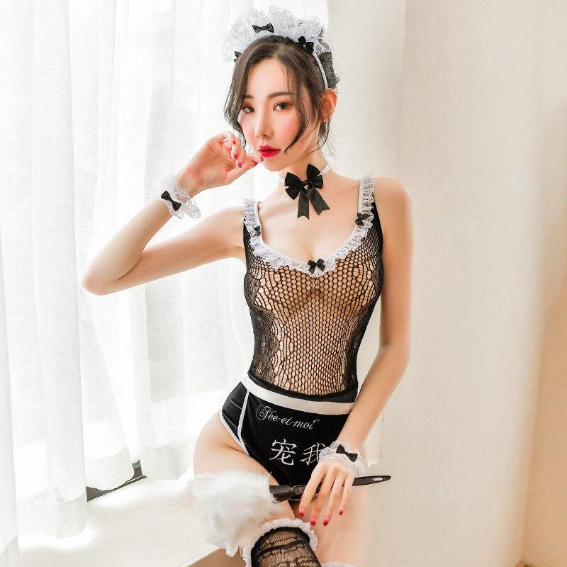 Nuevo Bodi erótico sexy ropa interior dama mono erótica mujer vestido de encaje negro Clubwear ropa exótica sexo Bondage Porno trajes