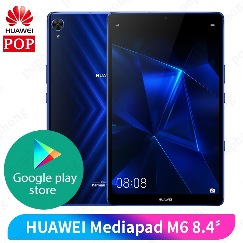 Original Huawei Mediapad M6 8.4 inch 4GB 64GB WIFI tablet PC Kirin980 Octa Core Android 9.0 Google play 6100mAh Type-C 2560x1600