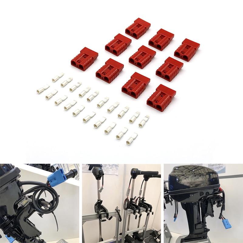 Envío gratis 10 unids/lote 10-12 AWG 50A batería conectar conector rápido enchufe para montacargas remolque de torno conductor eléctrico