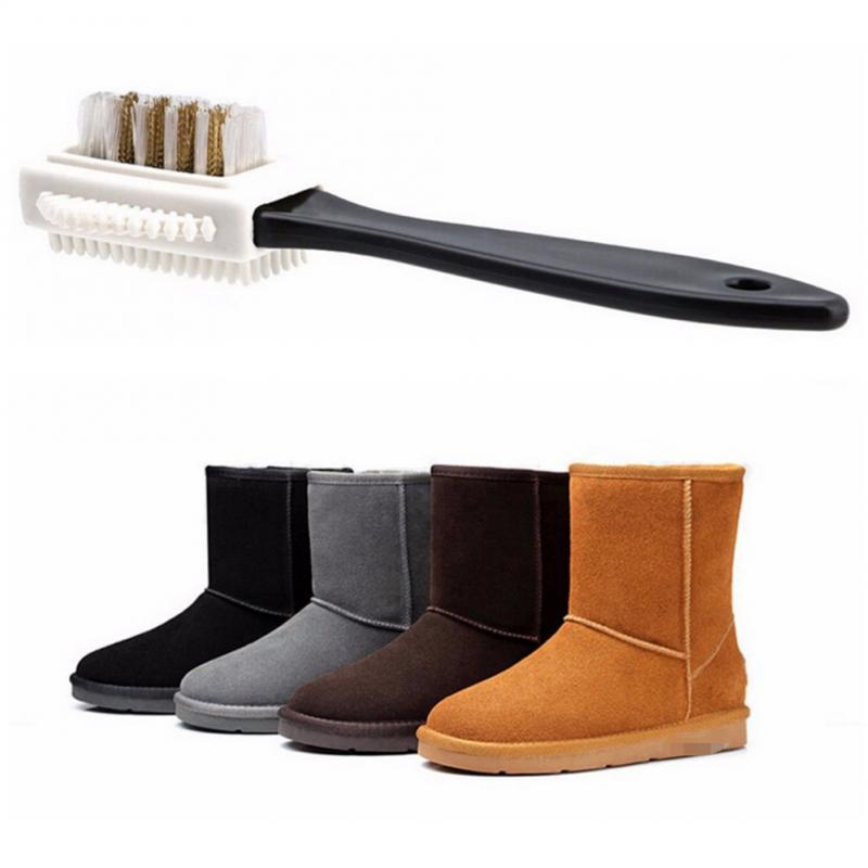 Sapato escova de limpeza preta para camurça nubuck bota sapatos s forma sapato escova de limpeza para calçados sapato chifre sapato cuidados