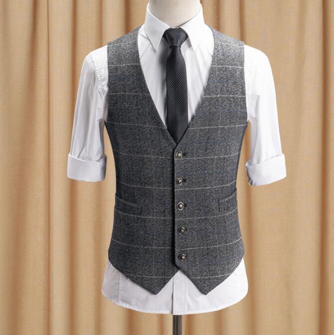 بدلة رجالية متقلب ، سترة غير رسمية رمادية ، فستان زفاف ، جودة عالية ، مقاس كبير S- 5XL 6XL ، 100%