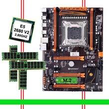 Remise matériel informatique HUANANZHI Deluxe remise X79 carte mère avec M.2 NVMe CPU Xeon E5 2680 V2 SR1A6 RAM 32G (4*8G) RECC