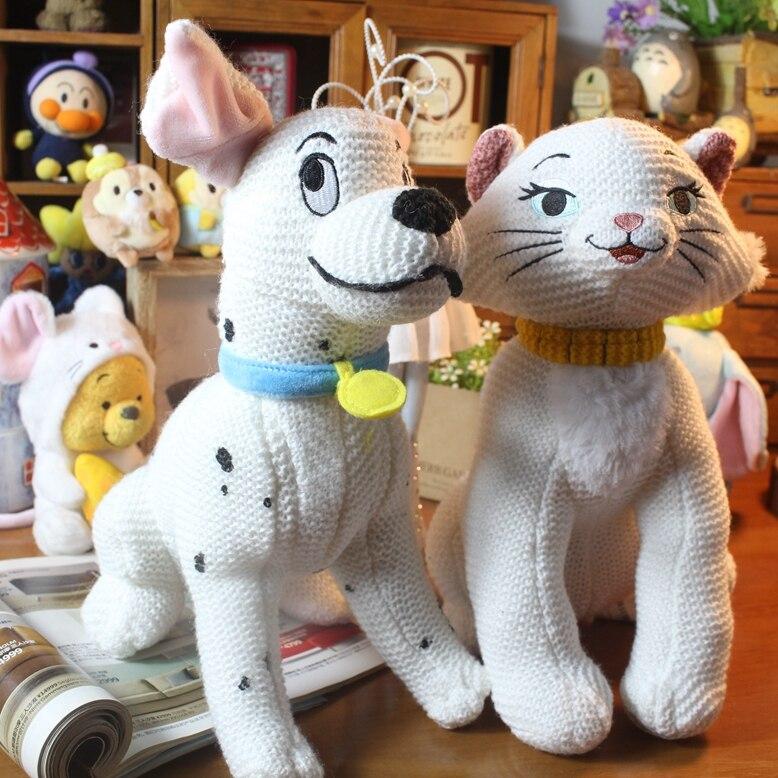 Original Anime & Cartoon 101 Dálmatas Perdita perro Marie gato tejido felpa niños juguetes de peluche para niños regalos de navidad
