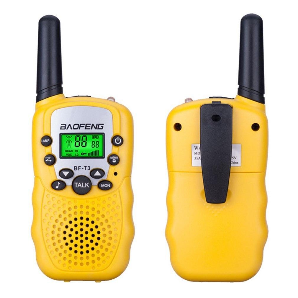 PCS Mini Crianças Walkie Talkie Bf-T3 2 Long Range Max 5Km 2 Way Ham Radio Walkie Talkie Interphone Criança brinquedo de presente