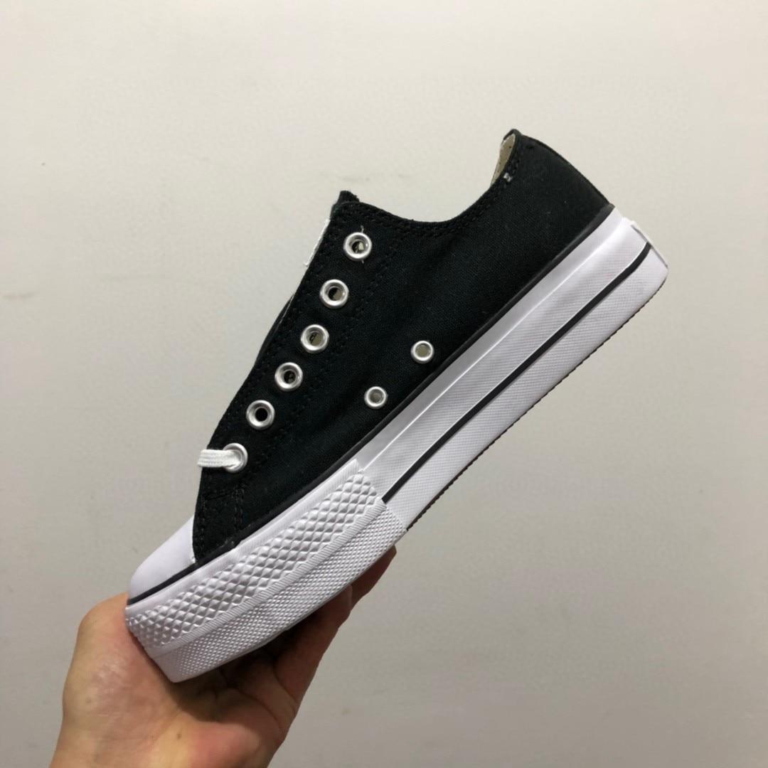 Zapatillas gruesas vulcanizadas de lona para mujer, zapatos informales plataforma, Skateboard, 2021