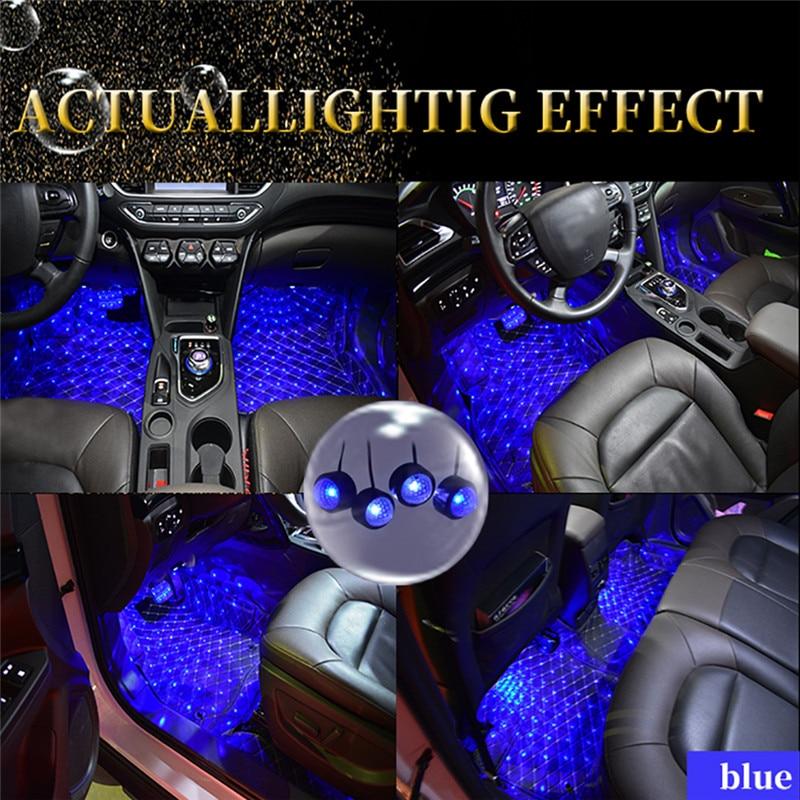 Estilo de coche LED RGB ambiente colorido Interior piso luz para Chevy Chevrolet Corvette C4 Camaro Aveo Chevrolet Cruze Malibu, Trax