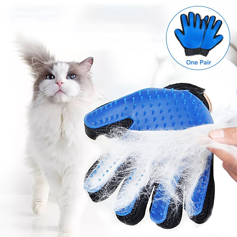 Cat Pet Grooming Glove Silicone Pet Brush Glove For Cat Dog Hair Remover Brush Cleaning Massage Glove For Pet Grooming Brush