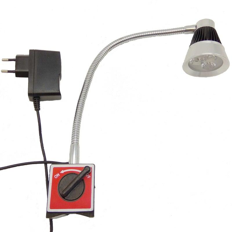110V 220V 3W LED GOOSENECK WORK LIGHT MAGNETIC