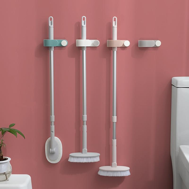 2020 Mop Broom Holder Wall Mounted Mop Holder Household Adhesive Storage Broom Hanger Mop Hook Racks Kitchen Bathroom Organizer