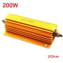 200W Metal Resistors 1ohm 2ohm 4ohm 8ohm 8R 4 Tube Amp Test Dummy Load Accessory