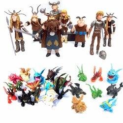 8 pces 13 pces como treinar seu dragão 2 desenhos animados filme modelo anime figurinhas fúria da noite desdentado pvc figuras de ação crianças brinquedo