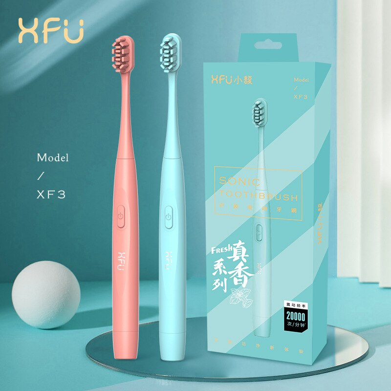 Xiaofu Sonic Toothbrush Type Adult That Female Student Party Couple Wear Bright White Electric Toothbrush