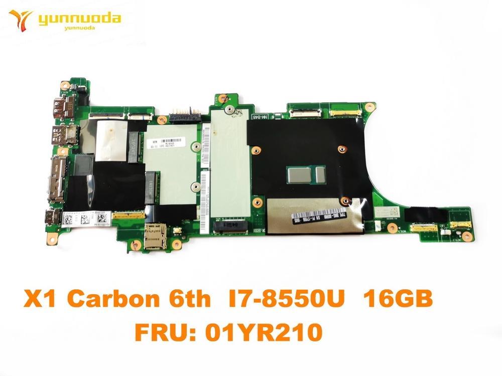 الأصلي لينوفو X1 الكربون 6th اللوحة المحمول X1 الكربون 6th I7-8550U 16GB FRU 01yr210test جيدة شحن مجاني
