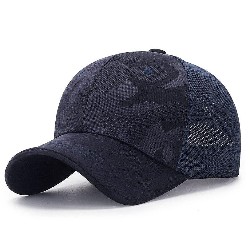 Novedoso ajustable Unisex camuflaje del ejército Camo malla gorra de béisbol hombres mujeres Casual pesca sombrero 55-58-61CM