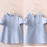 aa girl vertical striped princess dress baby girl casual cotton mini tutu summer dress new design kids vestidos for girls 2 7y