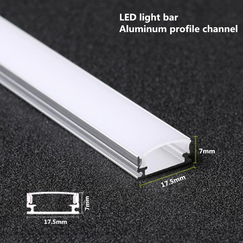 شريط إضاءة ألومنيوم LED ، 1 متر ، 10-20 قطعة ، شريط إضاءة صلب 5050 5730 ، قناة ألومنيوم مع غطاء طرفي