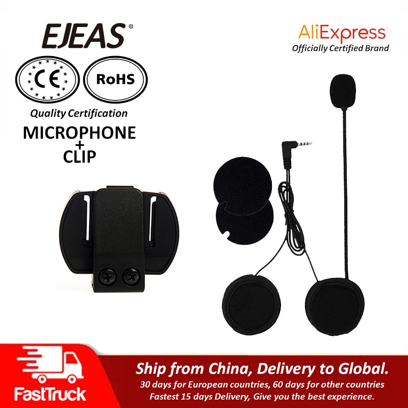 Casco de motocicleta Vnetphone V6 V4, accesorios para auriculares con Bluetooth, micrófono común de intercomunicación, altavoz, interfono, herramienta para auriculares