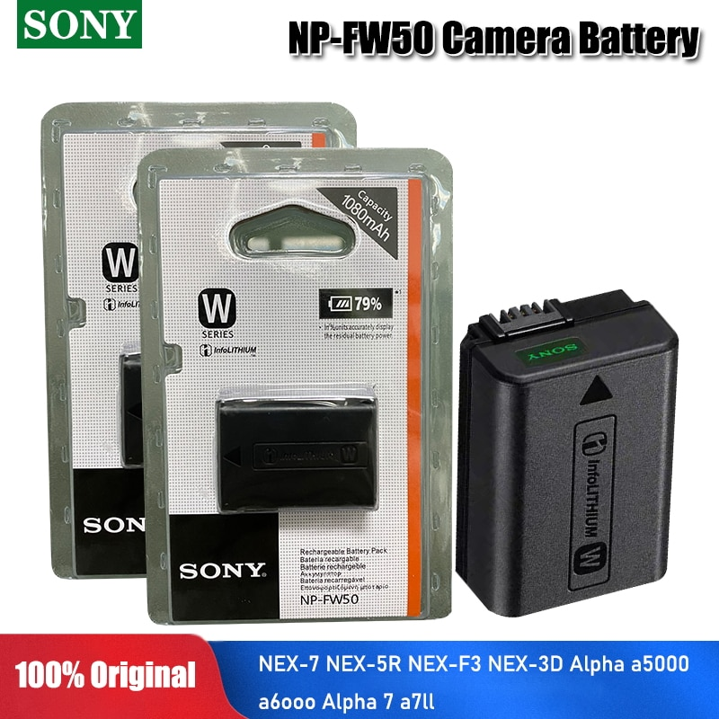 Original Sony NP-FW50 NP FW50 NPFW50 de batería de la cámara paquete...