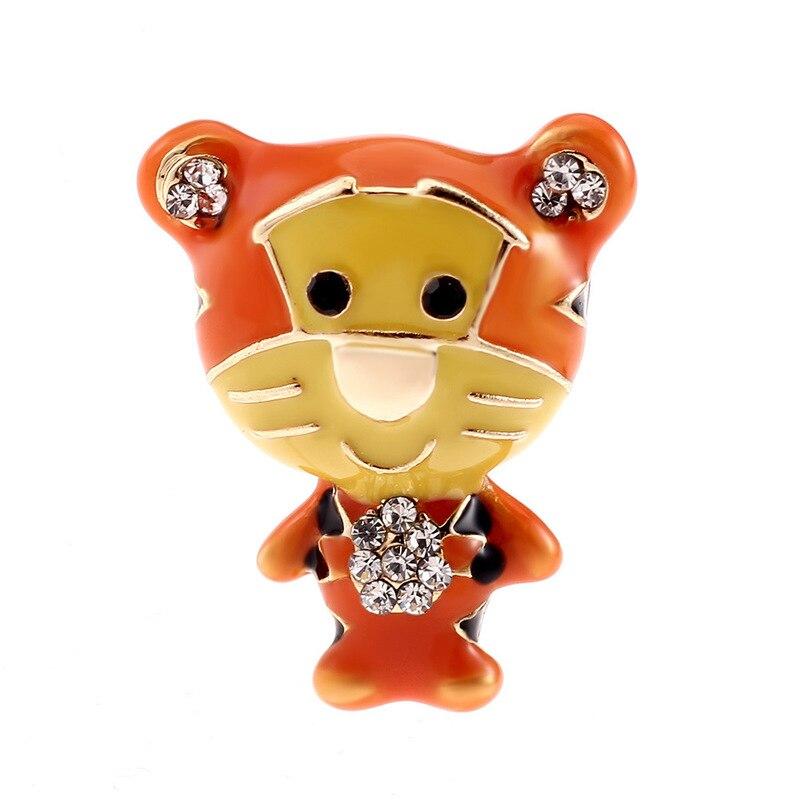 Y la velocidad de venta a través del nuevo pin ropa dibujo animado Tigre broche de cadena de alta calidad. Hebilla para bufandas