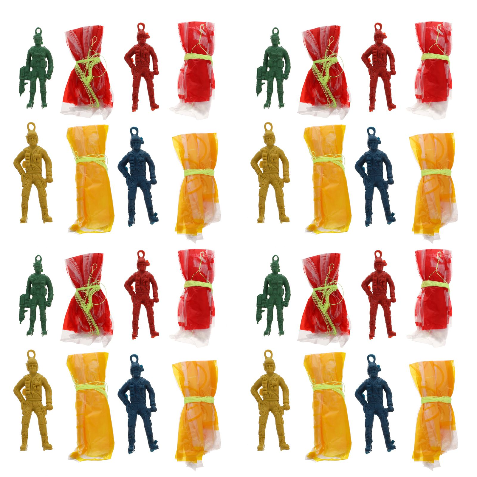 30Pcs Parachute Soldiers Toys Throwing Toys Outdoor Parachute Flying Toys