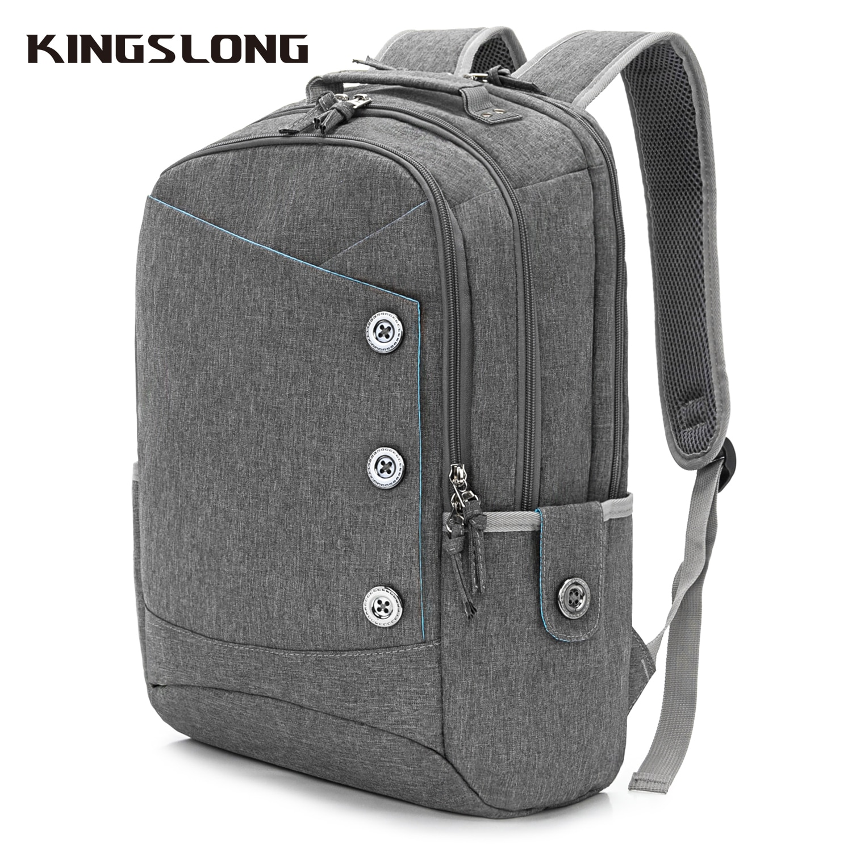 KINGSLONG محمول على ظهره المرأة Mochila للمراهقين موضة حقيبة المدرسة الكتان حقائب غير رسمية حقيبة السفر للنساء عادية