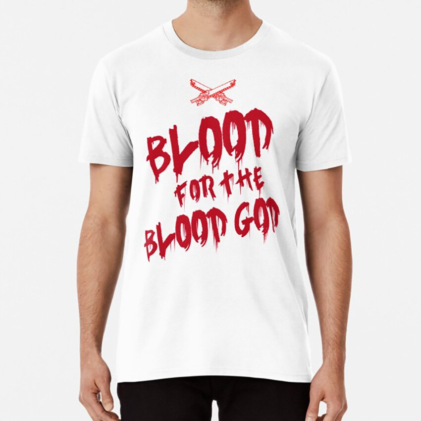 Khorne Chaos God Graffetti - Blood for the Blood God T shirt wh40k 40k chaos khorne nurgle fantasy science fiction sci fi