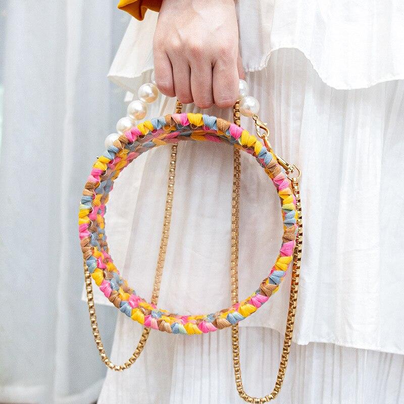 Woven bag acrylic transparent cloth thread bag handmade crochet wool diy material bag
