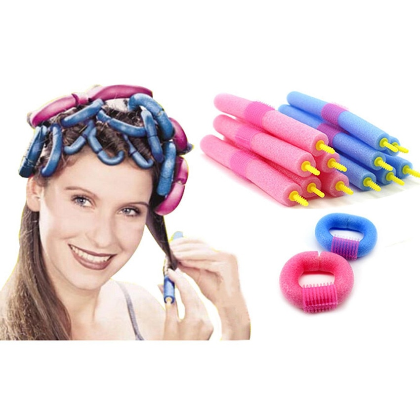 12Pcs Weich Schaum Curlers Makers Bendy Twist Curls Werkzeug DIY Styling Haar Rollen Haar Curlers Werkzeug Styling Rollen Schwamm