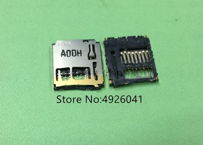 5 pces scha1b0200 8pin-thickness 1.9mm suporte para cartão microsd conector de cartão tf