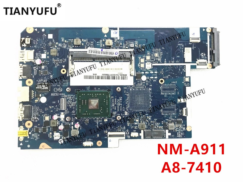 Фирменная Новинка для Lenovo 110-17ACL материнская плата CG721 NM-A911 с cpu (для A8-7410 AMD CPU) Материнская плата для ноутбука протестирована на 100%