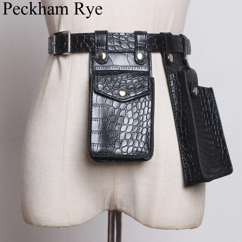 Riñonera de diseñador famoso, bolso de cintura para mujer, cinturón de cuero de alta calidad, bolso de pecho, ropa de calle, bolsos de teléfono, bolso de cocodrilo Nerka