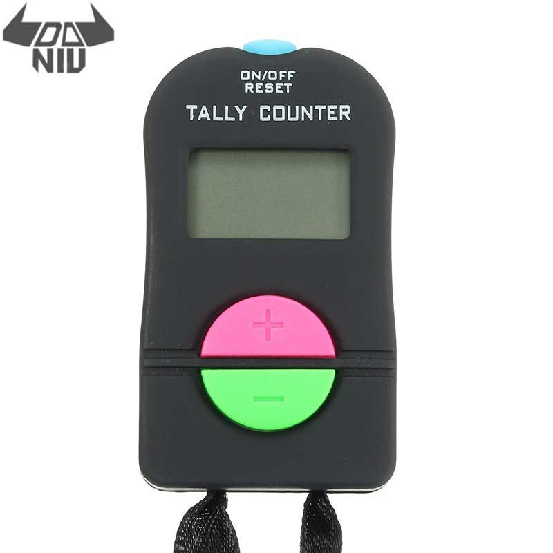 DANIU portátil 0-9999 segundos Digital electrónico mano Tally Head contador Clicker con pantalla LCD para rebotar multitud deporte Golf
