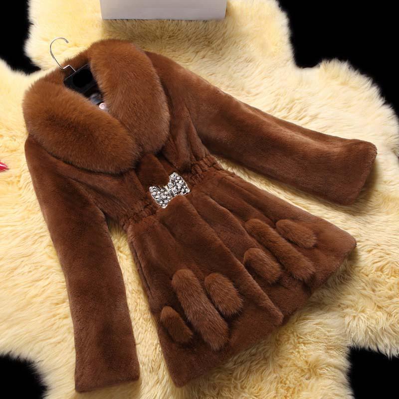 Женское пальто из искусственного меха, новинка 2021, повседневные флисовые куртки с лацканами, пальто из искусственного меха норки, женская у...