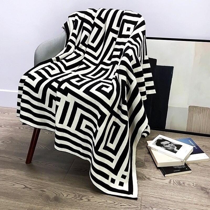 G رسالة الشمال بطانية قطن نقي محبوك رمي بطانية أريكة بطانية غرفة المعيشة السرير انتشار بطانية غطاء أريكة دافئة