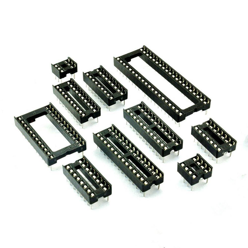 10 stücke Platz Typ IC Buchse DIP6 DIP8 DIP14 DIP16 DIP18 DIP20 DIP28 DIP40 pins Stecker DIP Buchse 6 8 14 16 18 20 24 28 40 pin